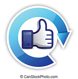 thumb up cycle illustration design over a white background