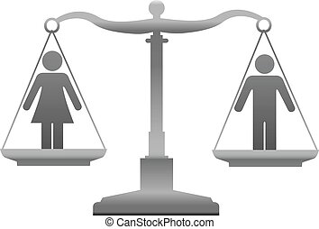 Gender equality sex justice scales - Equality scales weigh...