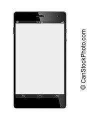 Big Screen Smart Phone Isolated on White background