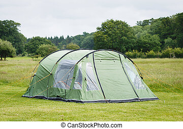 Tent in a camping site in the New Forest, England
