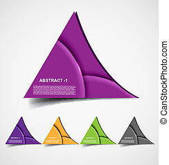 abstract colorful product choice Vector design