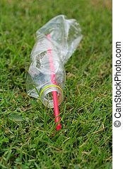 Crushed plastic bottles - recycle plastic
