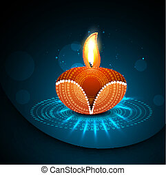Happy diwali diya celebration shiny colorful hindu festival...
