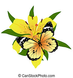 Butterfly on a flower - On a flower the butterfly sits. An...