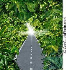 Escape The Jungle - Escape the jungle as a business symbol...