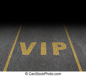 VIP Service - VIP service symbol with a first class reserved...