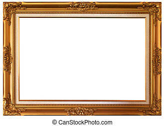 Picture frame - Gold frame with white background....