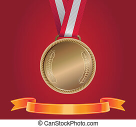 Bronze Medal, vector