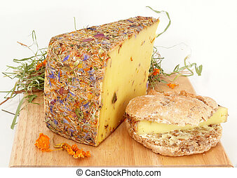 Wild flower cheese, made of raw milk