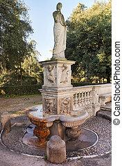 antiguo, parque, chalet, estatua,  Borghese