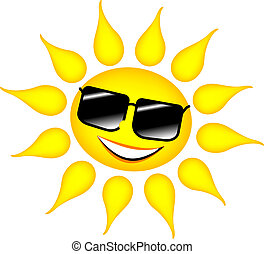 sun with glasses - illustration of a sun with glasses
