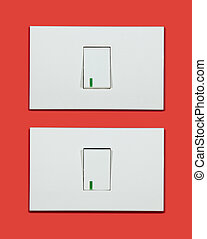 Light switch on-off - Electrical white rocker light switch...