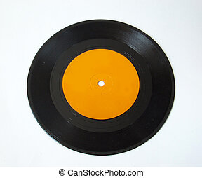 Isolated record - 45 rpm record on white background