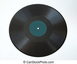75 rpm shellac record isolated - 75 rpm shellac record on...