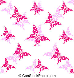Seamless wallpaper butterfly. Vector illustration