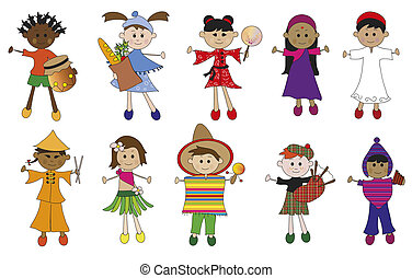 children illustration - illustration of children of...