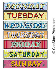 Days of the week - illustration of Days of the week