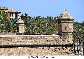 Dalt Murada in Palma de Mallorca - Sentry box at Dalt Murada...