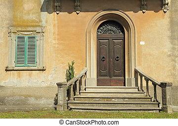 doorway with balustrade - entrance with balustrade to the...