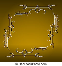 Vintage background, antique, victorian gold ornament, baroque frame, beautiful old paper