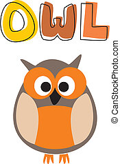 O is for owl vector illustration