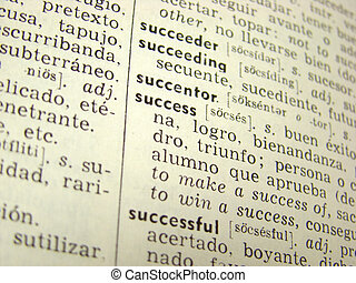 Success word in dictionary - \\\'success\\\' word in...
