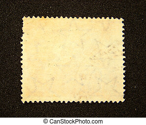 Blank postage stamp on black background...