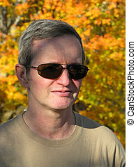 man in sunglasses - portrait of middleage man in sunglasses...
