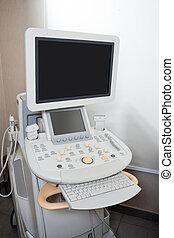 ultrasom, máquina, em, Clínica
