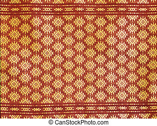 Pattern of Thai silk native fabric