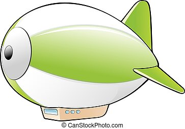 Cartoon Zeppelin - Vector illustration of a cartoon zeppelin...