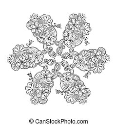 rose pattern ornament seamless