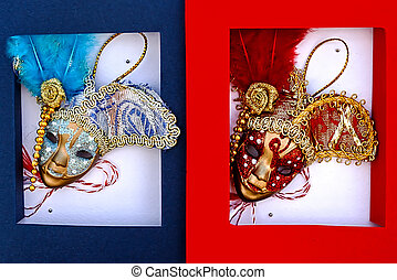 Martisor,symbol for coming springVenetian masks 1 -...