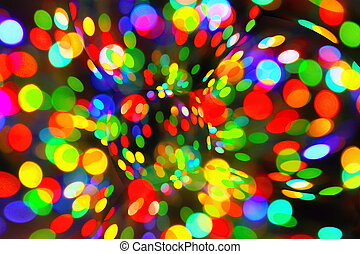 Abstract bright bokeh background - Bright abstract circular...