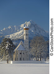 church in bavaria - famous church St Coloman in upper...