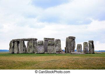Stonehenge England United Kingdom - Landscape of Stonehenge...