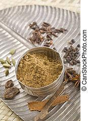 Brown Indian spices, Garam Masala.