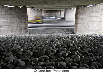 Under the bridge - A picture taken from under a bridge by...