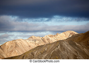 Landmannalaugar - Mountain ridges in Landmannalaugar in...