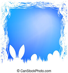 Happy easter card template. EPS 8