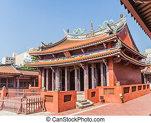 Confucius temple in Tainan, the former capital of Taiwan.