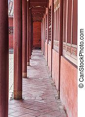 Confucius temple pilars - Pilars at the Confucius temple in...