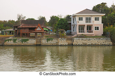 New and old house style waterfront.