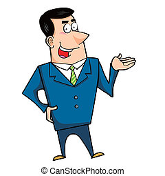 cartoon business man - a cartoon business man, vector