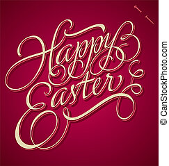 Easter hand lettering (vector)