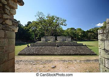 ciudad, Pelota,  golf, Maya,  honduras,  2, antiguo,  Copan