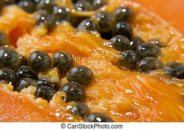 papaya - closeup of papaya, tropical fruit