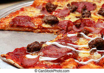 italian pizza - italian all meat flavored pizza with one...