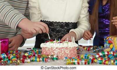 Kids Birthday Party - Children having fun at birthday party...