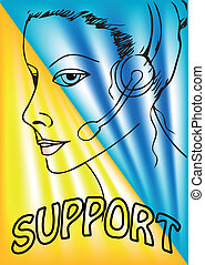 Support phone operator during a telephone conversation